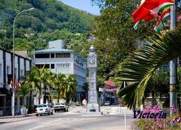 Seychelles Mahé Victoria Clock Tower New Postcard Seychellen - Seychellen