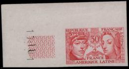 FRANCE   ** 1060 1060 Essai En Vermillon, Cdf: France - Amérique Latine - Ensayos