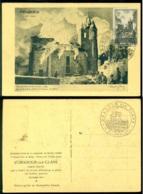 France 1945 Carte Postale D'Oradour Sur Glane Avec Mi 734 Premier Jour - ....-1949