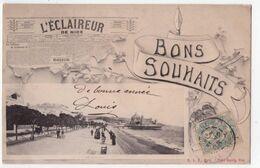 """7741 - Nice ( 06 ) - """" Bons Souhaits De Nice """" - E.L.D. à Paris - - Niza"""
