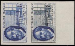 FRANCE   ** 1095 1095 Paire D'essais En Outremer Et Bicolore, Bdf: Gustave Planté: Inventeur De L'accumulateur - Ensayos