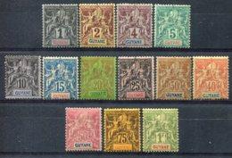 Guyane               30/42  * - Unused Stamps