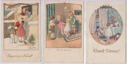 Lot De 3 Pauli Ebner Enfants Joyeux Noël Bonne Année - Ebner, Pauli