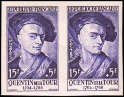 FRANCE   ** 1110 1110 Paire D'essais En Violet: Quentin De La Tour - Ensayos