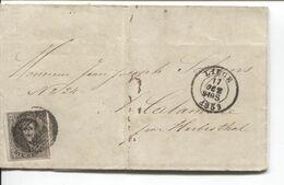 REF1791/TP 6 4 Marges S/LAC Chaudoir-Letihon Distellerie Genièvre Liqueurs C.Liège 17/12/1859 Obli.73 > La Calamine - Balkstempels: Ontvangerijen