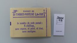 Carnet Moderne Ref YT 2101 C3** - Uso Corrente