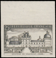 FRANCE   ** 1128 1128 Essai En Olive, Bdf: Château De Valencay - Ensayos