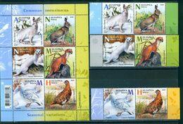 TH_ Belarus 2020 Fauna Seasonal Variations Hare Weasel Partridge Bird Birds Mammals 6v + Bl. S/S MNH - Francobolli