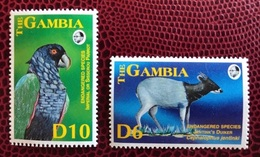 GAMBIE 1993 2 V Neuf MNH ** Endangered Species Parrot Impérial Amazon Ucello Oiseau Bird Pájaro Vogel  THE GAMBIA - Pappagalli & Tropicali