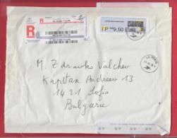 250321 / France Franking Labels 2019 - 9.50 Eur , LA POSTE , Frankreich Francia To Bulgaria - 2010-... Illustrated Franking Labels