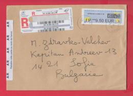 250322 / France Franking Labels 2019 - 9.50 Eur , LA POSTE , Frankreich Francia To Bulgaria - 2010-... Illustrated Franking Labels
