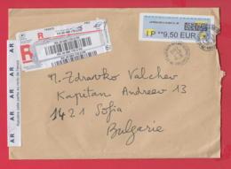 250323 / France Franking Labels 2019 - 9.50 Eur , LA POSTE , Frankreich Francia To Bulgaria - 2010-... Illustrated Franking Labels