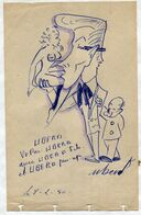Christian CRUVEILLER   Dit UBER  / Beau Dessin  Crayon Et Stylo  1950 - Dessins