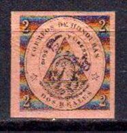Honduras 1877 Yvert 12 * Neuf Avec Charniere. 2 R. Sur 2 Rose. - Honduras