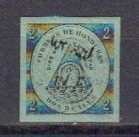 Honduras 1877 Yvert 10 * Neuf Avec Charniere Timbre De 1865 Avec Surcharge Noire - Honduras