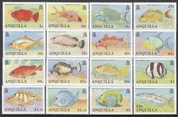 Tr_ Anguilla 1990 - Mi.Nr. 815 - 830 - Postfrisch MNH - Tiere Animals Fische Fishes - Fishes