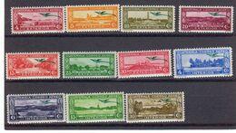 Guatemala 1937 Yvert 54 / 64 ** Neufs Sans Charniere. Quetzal En Surcharge Verte. - Guatemala