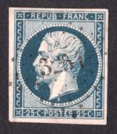 Présidence Louis-Napoléon N° 10 Bleu Foncé - Oblitération PC 3251 St Pol Sur Ternoise (Pas De Calais) - 1852 Louis-Napoléon
