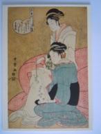 Japan Ukiyoe Woodblock Print Kitagawa Utamaro Die Oiran Wakazura Aus Dem Wakanaya-Hause Und Ihre Shinzo - Sin Clasificación
