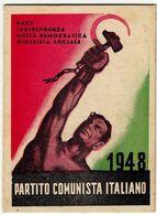 TESSERA PARTITO COMUNISTA ITALIANO - P.C.I. - 1948 - Sez. Di VALLE OLONA - VARESE - Vedi Scansioni - Historical Documents