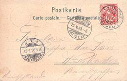 SCHWEIZ - ANSICHTSKARTE ZÜRICH 1903 - WIESBADEN /AS103 - Cartas