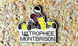 Pin's KART 1° Trophée KARTING MONTBRISON (42) - Peint Cloisonné - Fabricant ASIE 72 - Rallye
