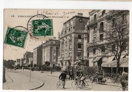 VINCENNES (VAL DE MARNE) * AVENUE DES MINIMES * QUINQUINA * DUBONNET * BICYCLETTES * Carte N° 38 * édit. Malcuit - Vincennes