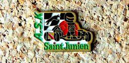 Pin's KART ASK SAINT-JUNIEN (87) - Peint Cloisonné - Fabricant Inconnu - Rallye
