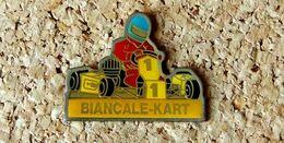 Pin's KART BIANCALE-KART - Verni époxy - Fabricant L'OBJET MEDIA - Rallye