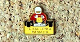 Pin's KART CHALLENGE KARTING YAMAHA - Peint Cloisonné - Fabricant Inconnu - Rallye