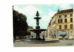Cpa - 21 - Chatillon Sur Seine - Fontaine Place Marmont 1977 Voiture R6 - VW COCCINELLE GS CITROEN Chasse Pêche - Chatillon Sur Seine