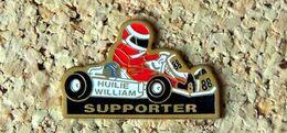 Pin's KART Supporter HUILIE WILLIAM - Peint Cloisonné - Fabricant SVAN EPINAL - Rallye