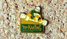 Pin's KART De La Revue TOP KARTING Magazine - Verni époxy - Fabricant Inconnu - Rallye