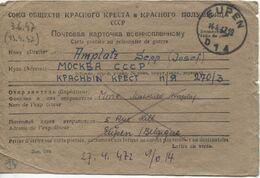REF1799/ CP Russe Pour PDG-POW C.Eupen 14/4/47 > Moscou URSS Document Rare/seltenes Dokument/ Zeldzaam Document - WW II