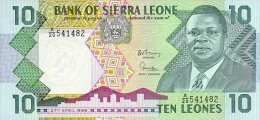 Siera Leone 10 Leone 1988 Pick 15 UNC - Sierra Leone