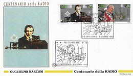 Fdc Filagrano: 100 ANNI DELLA RADIO (1995) No Viaggiata - FDC