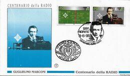 Fdc Filagrano San Marino: 100 ANNI DELLA RADIO 1995 - No Viaggiata - FDC