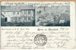 Dreisbach (Bad Marienberg, Rennerod, Hachenburg, Westerwald) Gastwirtschaft Becht, Um 1900 / Gel. 1913 - Bad Marienberg
