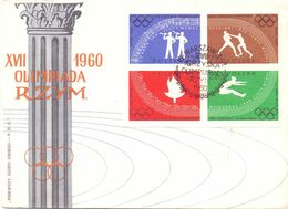 OLYMPIC GAMES 1960 COVER FDC POLAND   (SETT200106) - Winter 1960: Squaw Valley