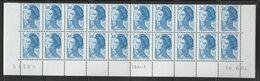 2320  3f. BLEU  - LIBERTE De GANDON - BAS De FEUILLE De 20- TD6-7 Du 18.6.84 - 1982-90 Liberté (Gandon)