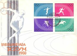OLYMPIC GAMES 1960 COVER FDC POLAND   (SETT200107) - Winter 1960: Squaw Valley