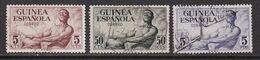 GUINEA 1952 - Serie Completa Usada Edifil Nº 311/313 - Guinea Española