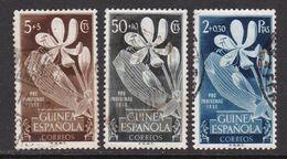 GUINEA 1952 - Serie Completa Usada Edifil Nº 314/316 - Guinea Española