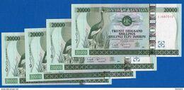 Ouganda  Suite  4  Billets  Neuf  20.000shillings - Oeganda