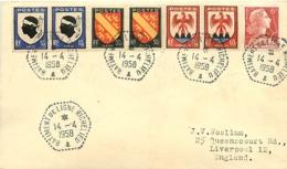 France.  L. Batiment De Ligne Richelieu Type 2  14/4/58 - Poststempel (Briefe)
