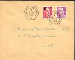 France.  3 L. Batiment De Ligne Jean Bart 1949, 1953 & 1956 - Poststempel (Briefe)