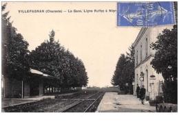16 . N° 50823 . Villefagnan . La Gare De Ruffec A Nior - Villefagnan