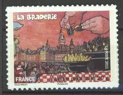 N° 568A Y.T. Autoadhésif France Neuf ** Braderie De Lille (Nord Pas De Calais)moules Et Frites - Luchtpost