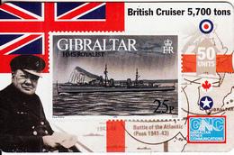 GIBRALTAR - Stamp, Warship/HMS Royalist, CN : 608L, Tirage 5000, Mint - Gibraltar