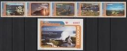 Ecuador (2001) Yv. 1539/43 + Bf. 111   /   Landscapes - Unesco World Heritage - Galapagos - Nature - Tortugas